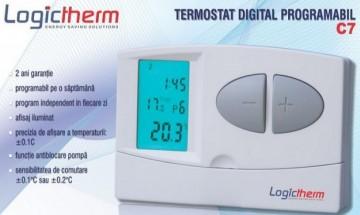 Poza Termostat de ambient cu fir LOGICTHERM C7 programabil
