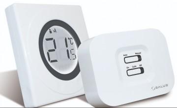 Poza Termostat de ambient fara fir SALUS 320RF neprogramabil cu inel tactil